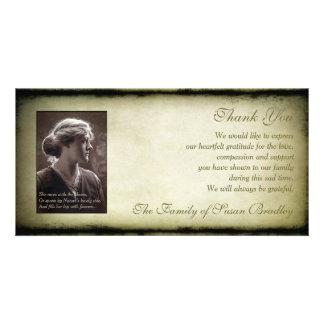 La condolencia del marco del vintage le agradece tarjetas fotográficas personalizadas