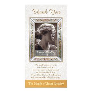 La condolencia elegante del marco del vintage le tarjetas personales