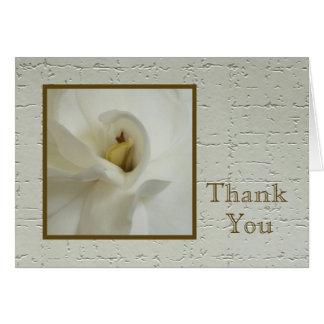 La condolencia en blanco le agradece tarjeta de