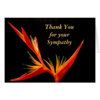 La condolencia fúnebre elegante le agradece cardar tarjeta de felicitación