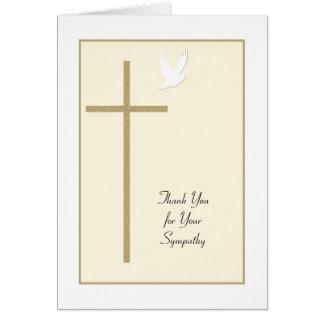 La condolencia fúnebre le agradece cardar -- Cruz  Tarjeta De Felicitación