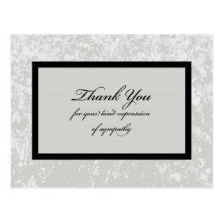 La condolencia gris clásica le agradece postal