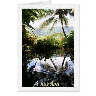La condolencia hawaiana le agradece de la familia tarjeta pequeña