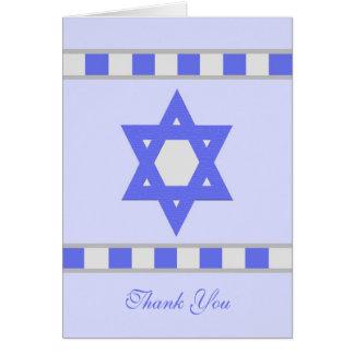La condolencia judía en blanco le agradece tarjeta