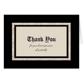 La condolencia le agradece tarjeta de nota --
