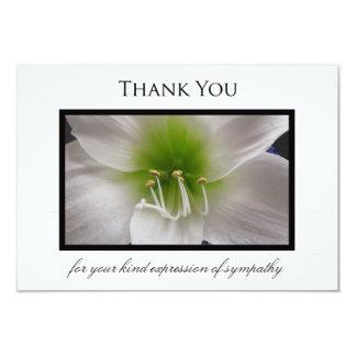 La condolencia le agradece tarjeta plana - invitación 8,9 x 12,7 cm