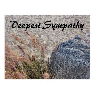 la condolencia más profunda de la playa tarjeta postal