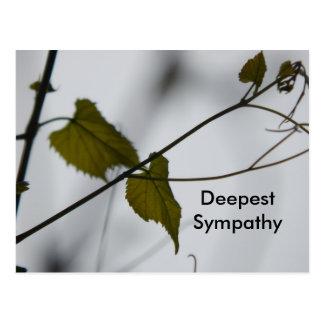 La condolencia más profunda postal