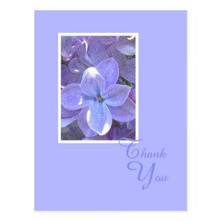 La condolencia o la muerte de las lilas le agradec postal
