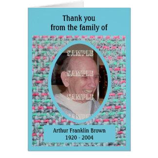 La condolencia tejida de las memorias le agradece  tarjeta pequeña