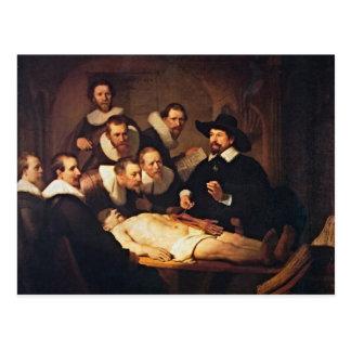 La conferencia de la anatomía de Rembrandt Postal