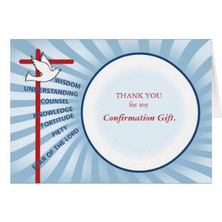 La confirmación le agradece los rayos azules tarjeta pequeña