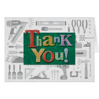 """La construcción """"le agradece"""" tarjeta de nota"""
