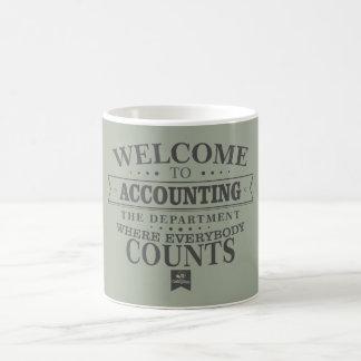 ¡La contabilidad es donde todos cuenta! Taza