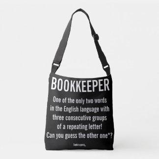 """La """"contable es una palabra única """" bolsa cruzada"""