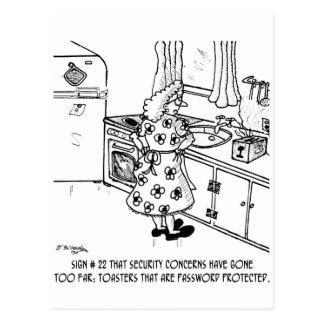 La contraseña de la tostadora postal