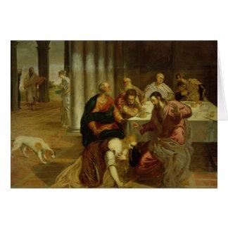 La conversión de Maria Magdalena, 1546-7 Tarjeta
