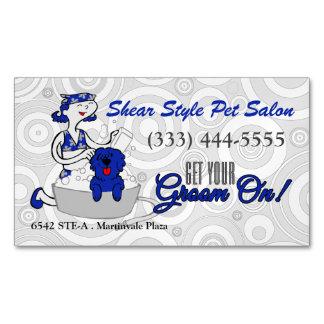 La coordinación azul consigue a su novio en tarjetas de visita magnéticas (paquete de 25)