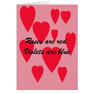 la copia del breakupcard, rosas es roja, las tarjeta de felicitación