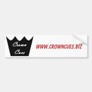La corona cuenta a la pegatina para el parachoques etiqueta de parachoque