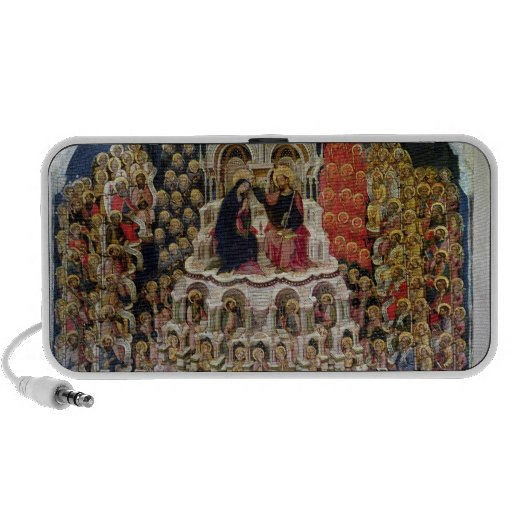 La coronación de la Virgen en el paraíso, 1438 Laptop Altavoces