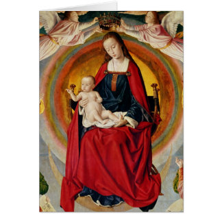 La coronación de la Virgen Tarjetón