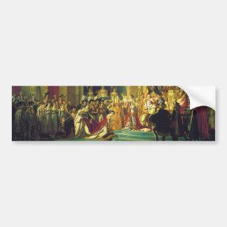 La coronación de Napoleon de Jacques Louis David Etiqueta De Parachoque