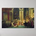 La coronación de Napoleon Poster