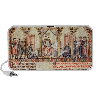 La corte de Alfonso X 'el Wise iPod Altavoces