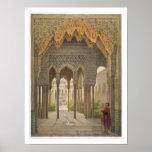 La corte de los leones, Alhambra, Granada, 185 Póster