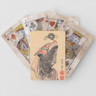 la cortesana en desfile se vistió en muchos trajes baraja cartas de poker