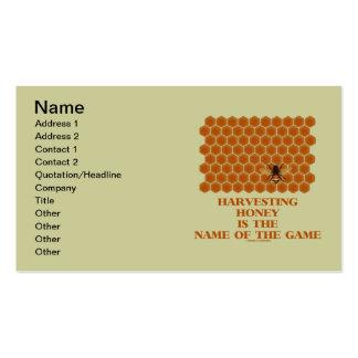 La cosecha de la miel es el nombre de The Game Tarjetas De Visita