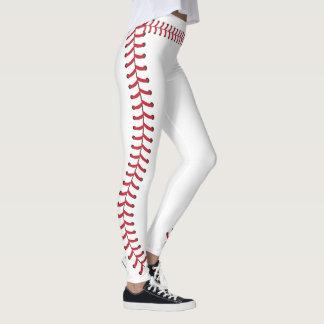 La costura de la bola del béisbol cose el modelo leggings