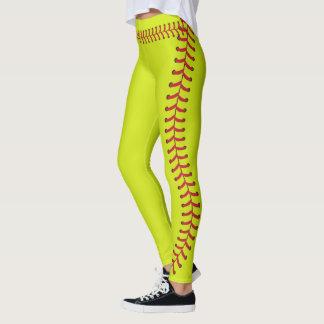 La costura de la bola del softball cose el modelo leggings