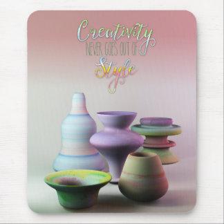 La creatividad de la cerámica de la acuarela nunca alfombrilla de ratón