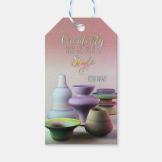 La creatividad de la cerámica de la acuarela nunca etiquetas para regalos
