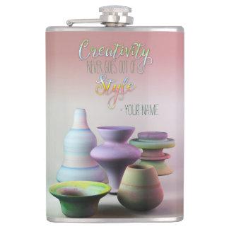 La creatividad de la cerámica de la acuarela nunca petaca