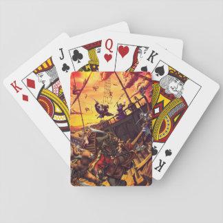 La creciente oleada baraja de cartas