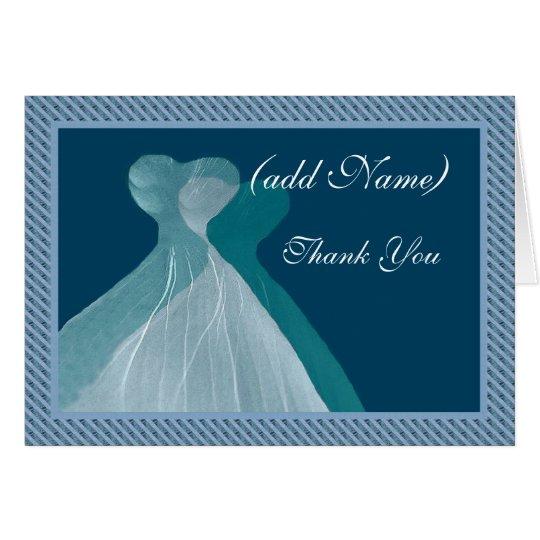 La CRIADA del HONOR le agradece - los vestidos Tarjeta De Felicitación