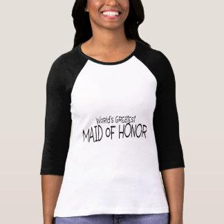 La criada más grande de los mundos del honor camisetas
