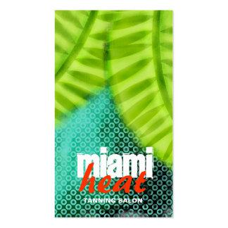 La CROMATOGRAFÍA GASEOSA el   los Miami Heat agita Tarjetas De Visita