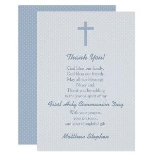 La cruz azul en colores pastel de la comunión le invitación 8,9 x 12,7 cm