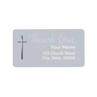 La cruz cristiana del metal le agradece la etiqueta de dirección