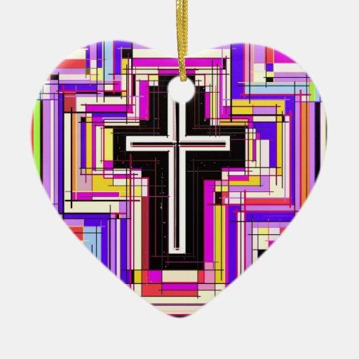 La cruz cristiana religiosa adorno para reyes