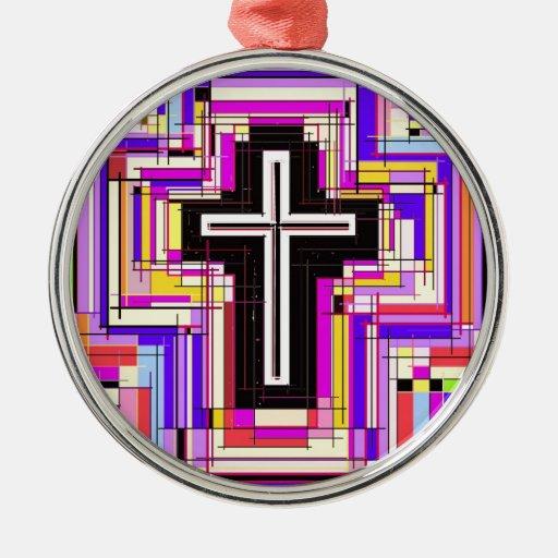 La cruz cristiana religiosa adorno de navidad