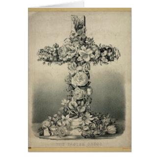 La cruz de Pascua por Ives 1869 Tarjeta De Felicitación
