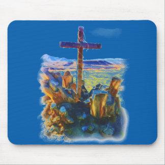 La cruz de Salvation-Saved_ Alfombrilla De Ratón