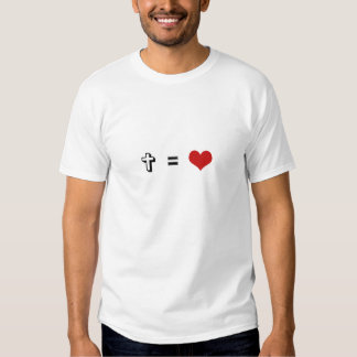 La cruz iguala amor camiseta