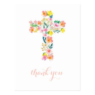 La cruz le agradece cardar, religioso le agradece postal