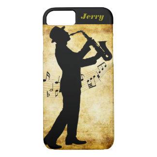 La cubierta de Iphone del jugador de saxofón Funda iPhone 7